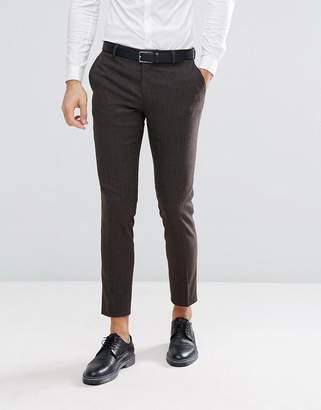 Jack and Jones Slim Suit Pants In Herringbone Tweed