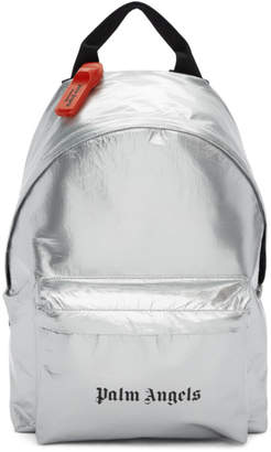 Palm Angels Silver Security Backpack