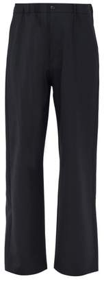 Maison Margiela Elasticated Belt Tailored Trousers - Mens - Mid Blue