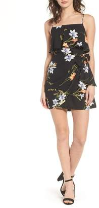 Lush Popover Wrap Minidress