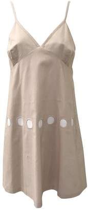 Tocca Beige Cotton Dress for Women