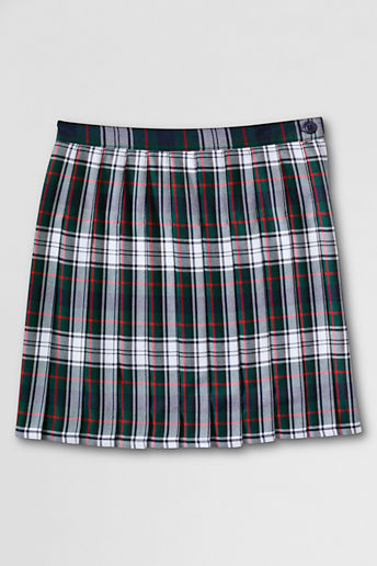 School Uniform Girls' Pleated Plaid Skirt