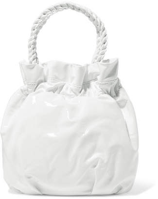 STAUD - Grace Patent-leather Tote - White