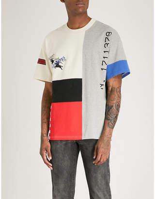 Burberry Palak panelled cotton-jersey T-shirt