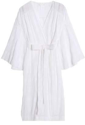 Skin Cotton-Blend Gauze Jacquard Robe