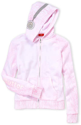 Butter Shoes Girls 7-16) Pink Crackle Wash Fleece Hoodie