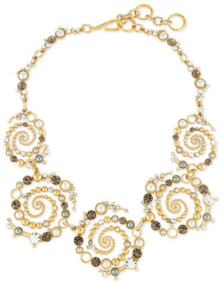 Lulu Frost Infinite Swirled Cabochon Statement Necklace $425 thestylecure.com