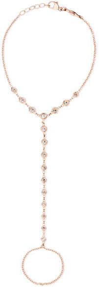 14-karat Rose Gold Diamond Finger Bracelet