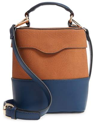 99f0abcddec ... Leith Bicolor Faux Leather Cylinder Bag