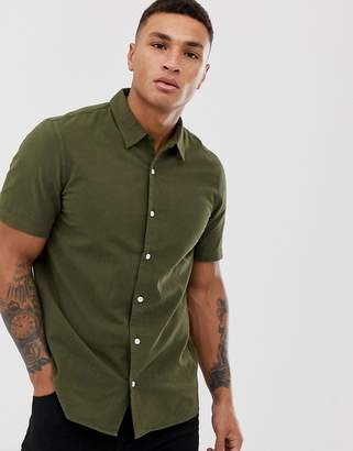Paul Smith casual fit short sleeve shirt in khaki