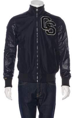 G Star Embroidered Bomber Jacket