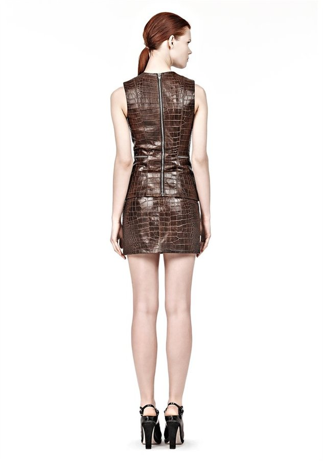 Alexander Wang Fitted Shell Top With Zipper Detail