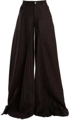 MM6 MAISON MARGIELA High-rise wide-leg wool-blend trousers