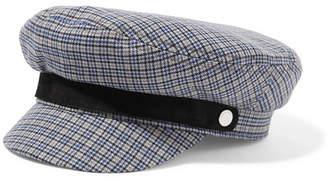 Rag & Bone Fisherman Suede-trimmed Checked Wool-blend Tweed Cap - Gray