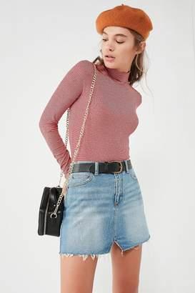 BDG Notched Denim Mini Skirt