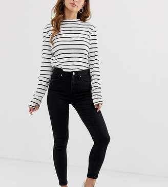 Miss Selfridge Petite Lizzie skinny jeans in black