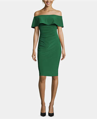 Xscape Evenings X by Off-The-Shoulder Sheath Petite Dress