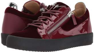 Giuseppe Zanotti May London Low Top Velvet Sneaker Men's Shoes