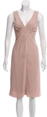 Armani Collezioni Pleat-Accented Midi Dress Pleat-Accented Midi Dress