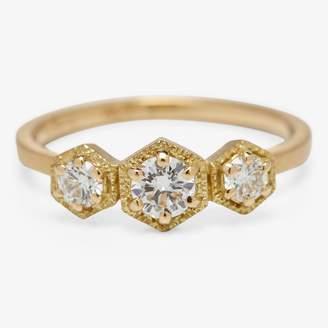 Satomi Kawakita Diamond Triple Hexagon Ring