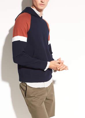 Vince Color Block Pullover Hoodie