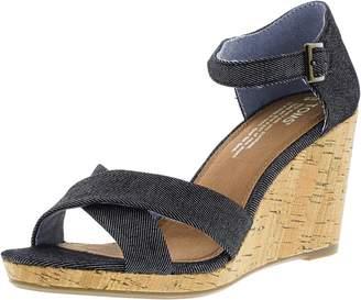 Toms Women's Sienna Denim Casual Shoe 8 Women US