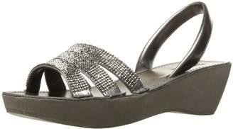 Kenneth Cole Reaction Women's Fine Wedge Slingback Jeweled Platform Sandal