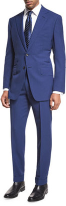 TOM FORD O'Connor Base Fresco Two-Piece Suit, Bright Blue $3,870 thestylecure.com