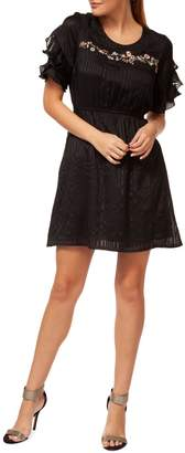Dex Embroidered Fit Flare Dress