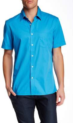 Perry Ellis Short Sleeve Regular Fit Dobby Shirt