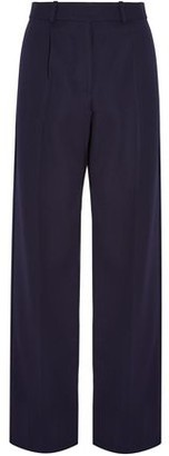Victoria Beckham Pleated Wool Wide-Leg Pants
