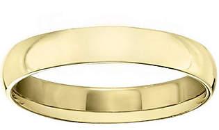 QVC Men's 18K Yellow Gold 4mm Half Round Wedding Band