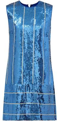 Victoria Victoria Beckham Sequined striped shift dress