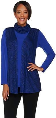 Susan Graver Sweater Knit Vest with Liquid Knit Tunic Set
