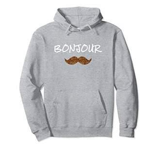 Bonjour animal print mustache Hoodie