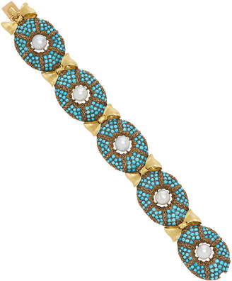 Buccellati Vintage Turquoise And Pearl Bracelet