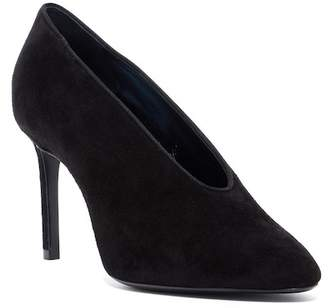 Lanvin Split Top Suede Pump
