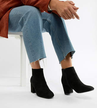 Truffle Collection Wide Fit Kitten heel Ankle Boots