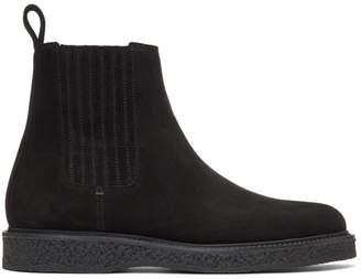 Saint Laurent Black Suede Hugo Chelsea Boots
