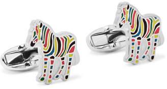 Paul Smith Zebra Enamelled Silver-Tone Cufflinks