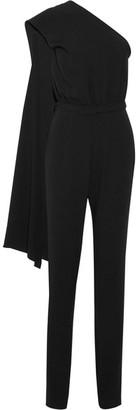 Co - One-shoulder Draped Crepe Jumpsuit - Black $1,095 thestylecure.com