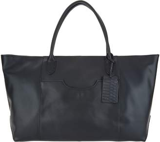 G.I.L.I. Got It Love It G.I.L.I. Smooth Italian Leather Oversized Tote Bag