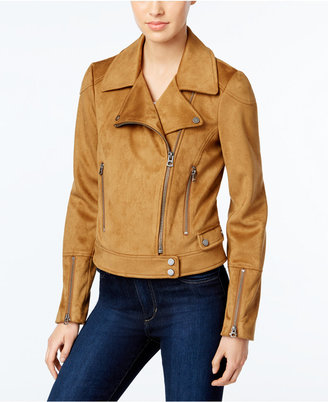 Lucky Brand Faux-Suede Moto Jacket $220 thestylecure.com