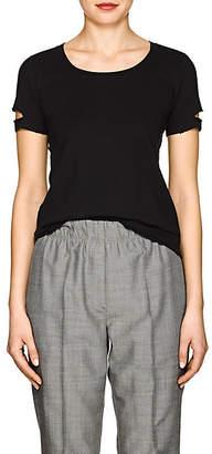 Helmut Lang Women's Distressed Jersey T-Shirt - Black