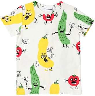 Mini Rodini Vegetable Print Cotton Jersey T-Shirt