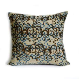 Ichcha Faces Block Print Pillow Cover