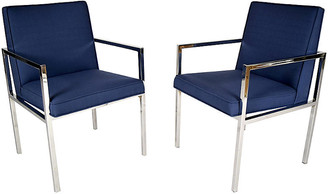 One Kings Lane Vintage Mid-Century Modern Chairs - Set of 2 - Castle Antiques & Design