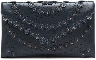 Alaia Oum Snakeskin and Leather Clutch Bag