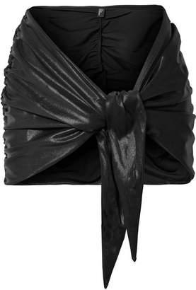 Lisa Marie Fernandez Ruched Metallic Pareo - Black