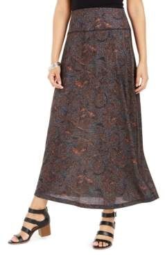 Style&Co. Style & Co Printed Pull-On Maxi Skirt, Created for Macy's